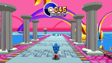 Find the hidden giant rings in each level for a chance to recover some chaos emeralds.