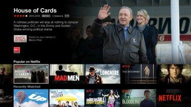 The Australian Netflix has far fewer titles than the US version.