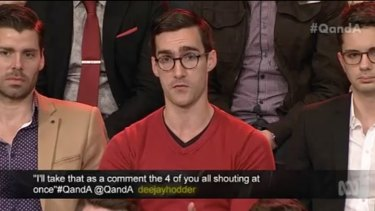 "An example of the ""Hot Guys Of The Q&A Audience""."