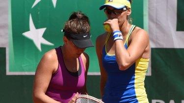 Close, but no cigar: Casey Dellacqua and Yaroslava Shvedova.