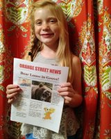 Hilde Kate Lysiak edits and publishes the Orange Street News in her hometown of Selinsgrove, Pennsylvania.
