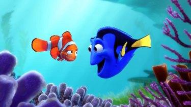 Dory (Ellen DeGeneres) and Marlin (Albert Brooks) in 2003's <i>Finding Nemo</i>.