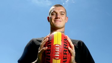Dustin Martin exited stage left when the contract questions began.