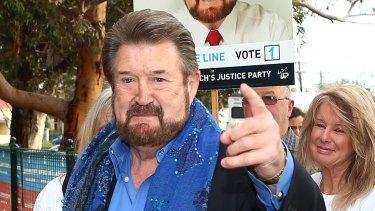 Newly elected senator Derryn Hinch