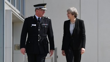 Prime Minister Theresa May meets Manchester Police Chief Constable Ian Hopkins on Tuesday.