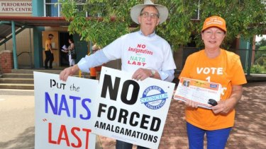 Opposition to council mergers was said to be a big factor in the swing against the Nationals in Orange