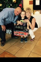 Geoff and Susan Metcalfe with grandson, Jai.