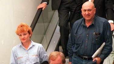 Senator Hanson with her former adviser John Pasquarelli.