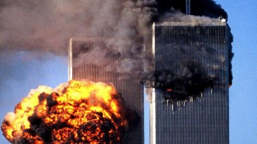 Terrorists crashed two airliners into the World Trade Center New York city on 11 September 2001.