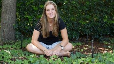 In the public eye: outgoing school captain Sarah Haynes.