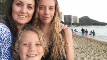 Danielle Smith was holidaying with her husband and their daughter, Ebony, and son, Nixon, when the missile alert came through on Saturday.