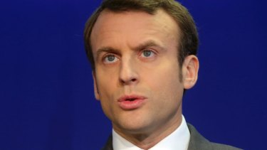 Former French economy minister and candidate for the presidential election Emmanuel Macron.
