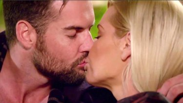 Blake kisses Sophie Monk on The Bachelorette.