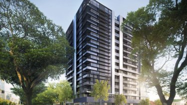 An artist's impression of the proposed apartment tower.