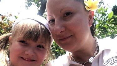 Anna with daughter Natalia during their 2014 holiday.