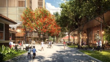 An artist impression of Consolidated Properties' Yeerongpilly Green development.