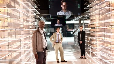 Johnny Depp merges with a machine intelligence in <i>Transcendence</i>.