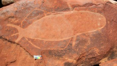Rock carvings on the Burrup Peninsula, near Karratha.