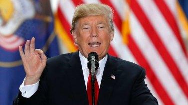 US President Donald Trump speaks at the Utah State Capitol on December 4.