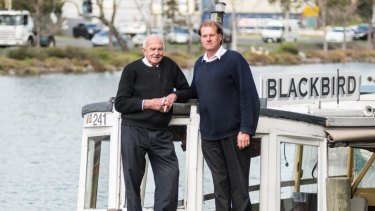 Peter and Warwick Somerville, skippers of the Blackbird.