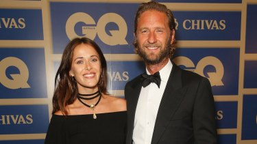 Proud parents: Kate Fowler and Justin Hemmes, pictured at the GQ Awards on Wednesday.