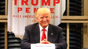 Donald Trump in Dayton, Ohio.