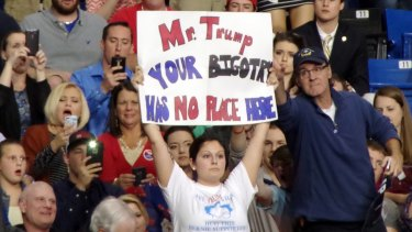 Donald Trump was disrupted at least 15 times by protesters during a rally on Wednesday as well.