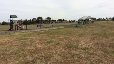 The Geelong park where the men allegedly abducted the girl.