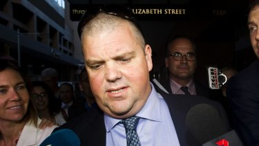 Besieged mining magnate Nathan Tinkler leaves an ICAC hearing in May 2014. His Boardwalk Resources paid $53,000 to the Free Enterprise Foundation but said it was intended for the federal Liberals.