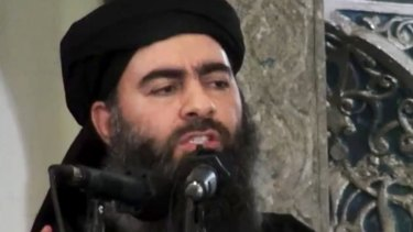 Islamic State leader Abu Bakr al-Baghdadi.