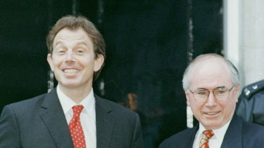 Tony Blair and John Howard, key allies in the Iraq invasion, in London in 1997.