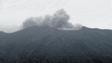 Mount Agung's minor eruption on Tuesday