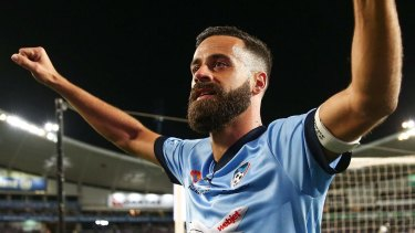 Keeping team intact: Alex Brosque wants to play on next season.