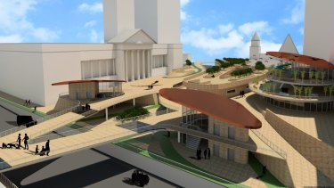 Troy Pearce design of King George Square for Plus Architect design competition