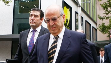 Passport surrendered: Eddie Obeid arrives at the NSW Supreme Court on Thursday.