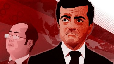 Huang Xiangmo and Sam Dastyari. Illustration: Richard Giliberto