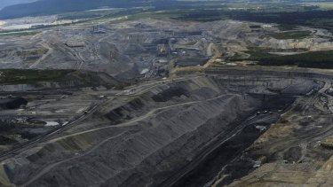Coal mines in the Upper Hunter Valley near Bulga, where Rio wants to extend the open-cut mine.