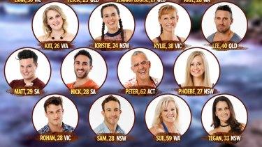 Australian Survivor contestants.