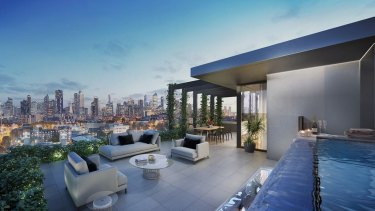 A roof terrace on the proposed Flemington Road tower.