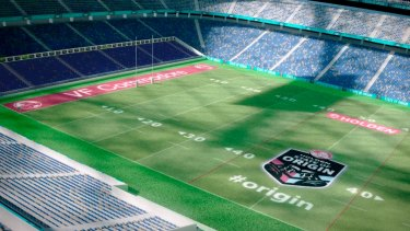 Four sides: Artist's impression of a rectangular ANZ Stadium.
