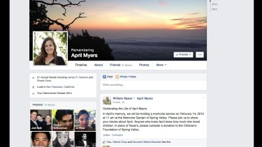 A memorialised Facebook page, which can be managed by a legacy contact.