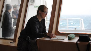Visual artist Annalise Rees spent two months on the Institute of Marine and Antarctic Scientists expedition and her work, along with Batchelor's, forms Deepspace.