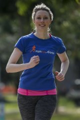 Clare Warren gets ready ahead of this year's Run Melbourne. 21 July 2015. The Age NEWS. Photo: Eddie Jim.
