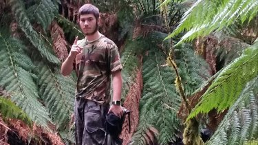A camouflaged Sevdet Besim somewhere in the bush.
