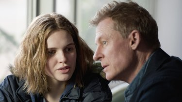 Teenage Grace (Odessa Young) is about to throw her dad's (Richard Roxburgh) life into chaos in <i>Looking for Grace</i>.