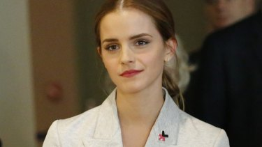 UN Women Goodwill Ambassador Emma Watson at the HeForShe campaign launch at the United Nations in September 2014.