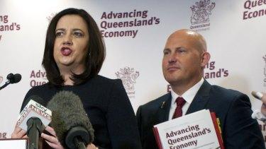 Premier Annastacia Palaszczuk and Treasurer Curtis Pitt have found $800 million for Brisbane's underground rail project.
