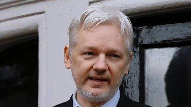Julian Assange in London.
