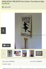 The infamous Ditch the Witch sign up for sale online.