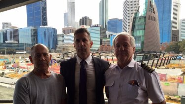 Bryan Molnar (left) and Bill Edgar (right) with Paul Papalia.